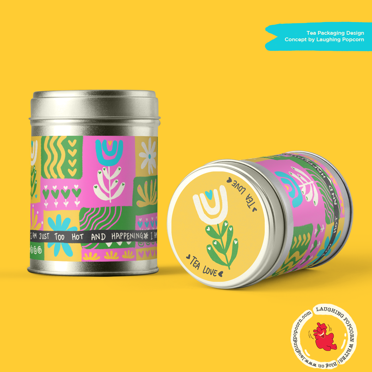 A colorful tea branding concept by Laughing Popcorn