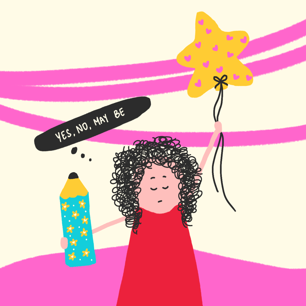 Creative Process-Illustration for blog-Laughing Popcorn